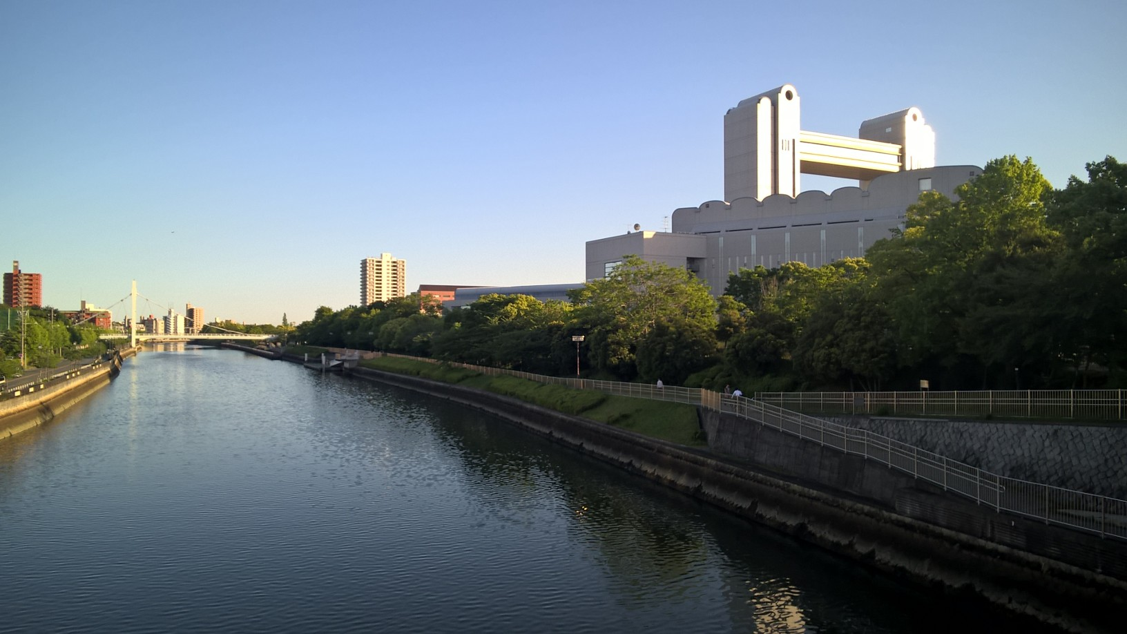 Nagoya Congress Center by the Horikawa River.